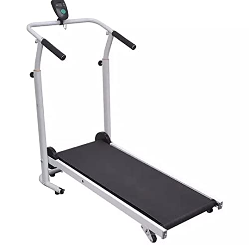 VK Navya Fitness with Height Adjustable and Foldable Manual Treadmill for Home Gym, Running Jogging Walking Machine with 120-kg Max. User Weight|