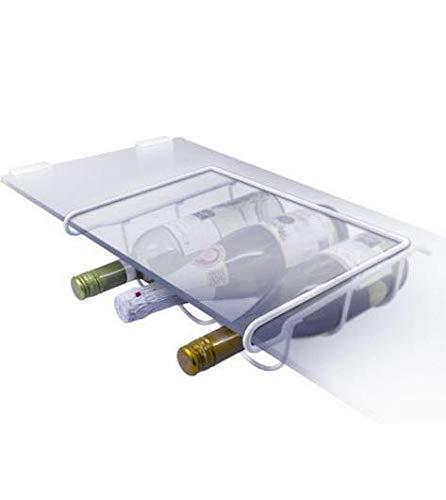 homeAct Universal Weinflaschenhalter Flaschenhalter für Kühlschrank Weiß