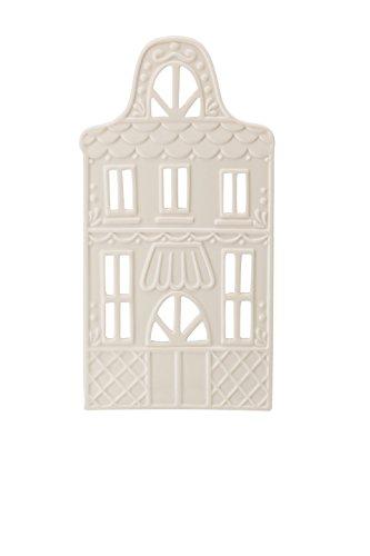 Hutschenreuther Little Christmas Town Höhe 21 cm Lichterhaus Front 7 weiß, Porzellan, 8 x 12 x 24 cm