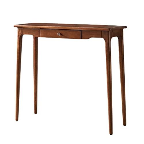 Side table-Q Mesa De Consola Retro, Mesas De Entrada De Almacenamiento Mesa Auxiliar De Exhibición De Altura con Cajones, Sofá De Acento Delgado Mesa para La Casa De Campo(Size:80CM)