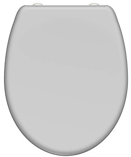 SCHÜTTE 82302 WC-Sitz GREY, Duroplast, mit Absenkautomatik und Schnellverschluss, grau