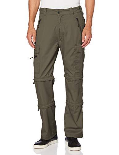 Brandit Savannah Pantalones para Senderismo, Verde Oliva, L para Hombre