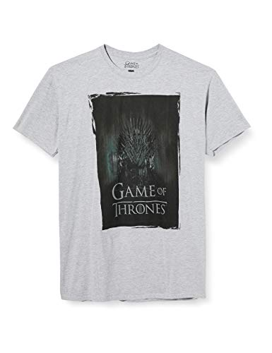 ICONIC COLLECTION - GAME OF THRONES Throne Camiseta, Grey Marl, S para Hombre