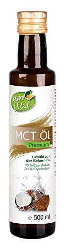 Kopp Vital MCT Öl | Premiumqualität | vegan | 1x 500 ml | Ohne Gentechnik | Extrakt aus der Kokosnuss | geschmacksneutral