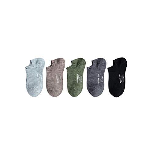 Socke Herrensocken Fünf Paar Herrensocken Sommer-dünne Männer-Boots Shallow Mouth Deodorant Sweat-saugfähig atmungsaktiv Low Cut Hohe Qualität (Color : A)