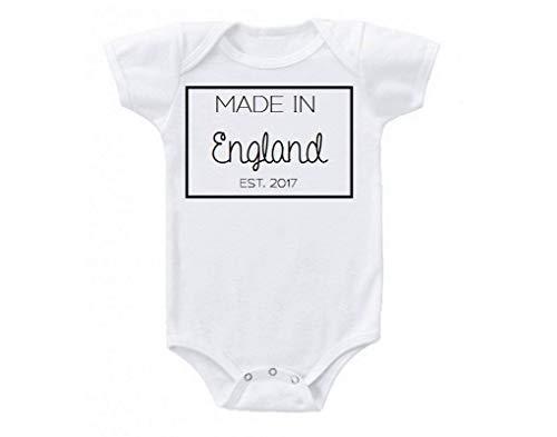 Promini Hecho en Inglaterra Reino Unido Londres Global Babe Lindo Divertido Beb Onesie Camiseta Disfraz Beb Mono Beb