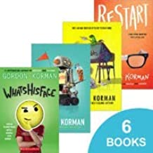 Gordon Korman 6 Book Value Pack - Restart, Slacker, Whatshisface, Schooled, Ungifted, The Unteachables