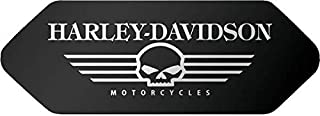 Retrolo Sticker für Helm Shoei – Harley Davidson Totenkopf schwarz – vorne