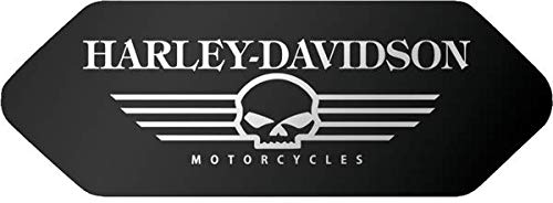 Adhesivos retroreflectantes para casco Shoei – Harley Davidson calavera negra – Frontal
