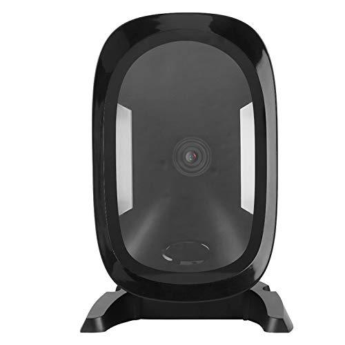 DAUERHAFT Escáner de código USB Escáner de código QR Plegable Negro para escanear Varios Tipos de códigos Adecuado para Ropa de Catering de supermercados