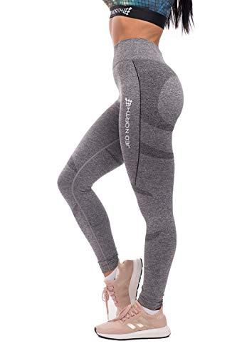 Jed North Women's Seamless Gym Fitness Workout Leggings Grey