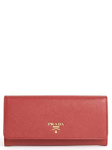 Luxury Fashion | Prada Dames 1MH132QWAF068Z Rood Leer Portemonnees | Lente-zomer 20