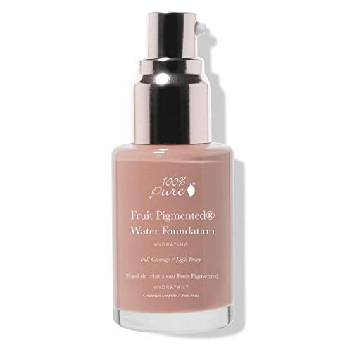 100% PURE Water Foundation (Fruit Pigmented), Cool 3.0, Full Coverage, Semi-Dewy Finish, For Normal, Dry Skin (Cool w/Pink Undertones for Medium Skin) - 1 Fl Oz