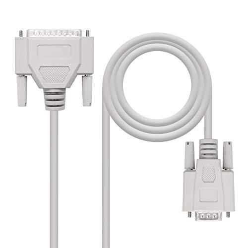 Nano Cable 10.14.0602 C/âble Serie RS232 Null Modem DB9 Femelle-Femelle,1.8mts