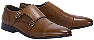 Tarocash Men's Double Monk Dress Shoe Footwear Sizes 7-13 for Going Out Smart Occasionwear