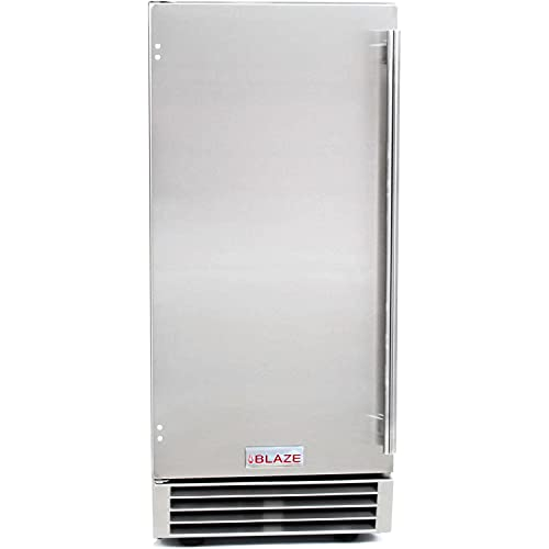 Blaze 50 Lb. 15-Inch Outdoor Rated Ice Maker with Gravity Drain - BLZ-ICEMKR-50GR