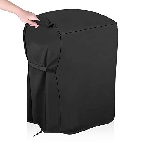 Funda para Barbacoa Impermeable 420D Oxford Cubierta para Barbecue Peotector con Cuerda de Bloqueo de BBQ Universal A Prueba de Agua/Lluvia/Viento/UV/Mal Tiempo 77x67x110cm