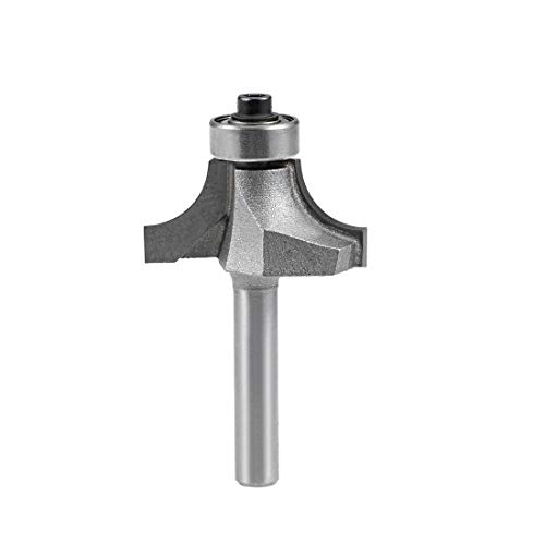 sourcing map Router Bit 1/4 Inch Shank 3/4 Inch Cutting Dia Round Over...