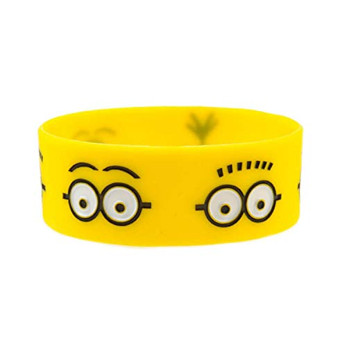 Xi-Link Wide silicone bracelet small yellow people (Color : Yellow)