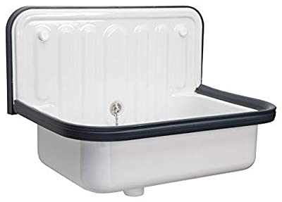 AP Wall Mounted Small Service Sink Glazed Steel Utility