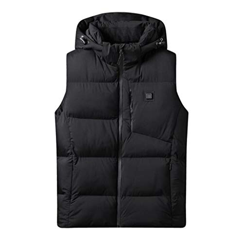 Warm vest voor heren, intelligent warm vest, thermostaat, katoenen overhemd, lichte jas, eenvoudig op te bergen, herfst- en winterjas op reis.