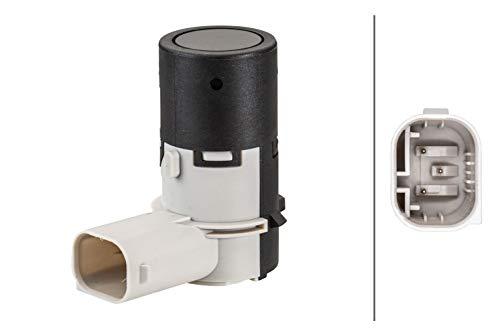 HELLA 6PX 358 141-251 Sensor, Einparkhilfe - gewinkelt - 3-polig - gesteckt - lackierbar