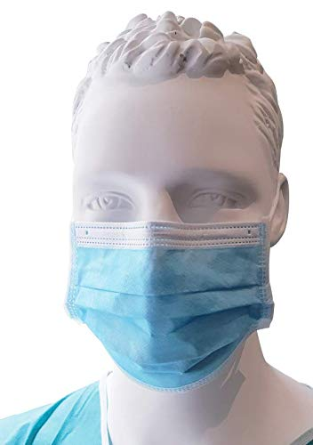 Máscaras quirúrgicas ∣ caja x 1000 piezas ∣ 3 capas, tamaño universal, filtración bacteriana 98% ∣ hipoalergénico y suave