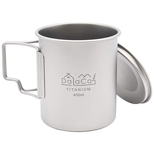 DaLaCa チタンマグカップ 450ml 直火OK シングルウォール構造 チタンマグ (シングル)