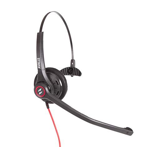 Avalle Professional Call Center Agent-Headset I Für Polycom VVX, Avaya, Mitel, Shoretel, Nortel und Aastra I mit U10P-Verbindungskabel I Noise Cancelling-Mikrofon I Schnelltrennung