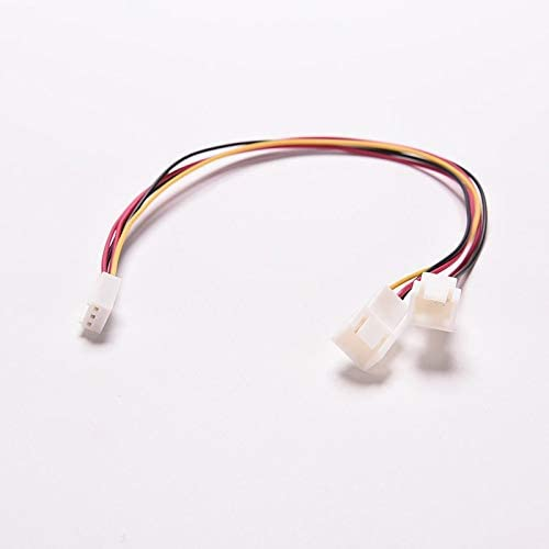 Occus 15cm 3 Pin PC Computer Case Fan Power Y Splitter Cable Lead 1 Female to 2 Male Motherboard Connector Cable Length: 1PC