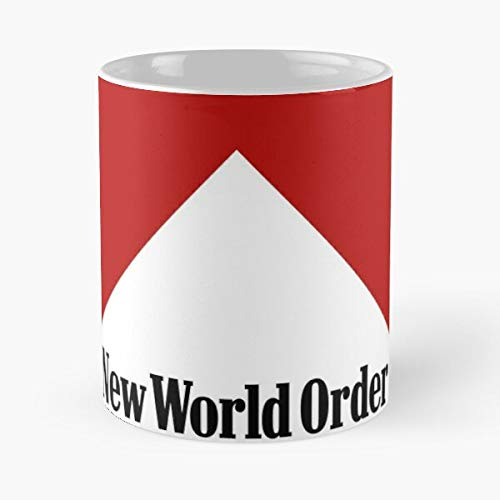 Nueva Orden Mundial Pirámide Ojo Divertido feliz Illuminati NWO Todo Viendo Mejor Taza De Café De Cerámica Personalizar