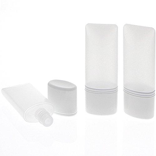 Kosmetex leere Tube für Flüssigkeiten, Cremes Plastik ideal für Reise, 30ml, 3× 30 ml