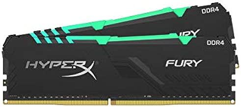HyperX Fury 16GB 3000MHz DDR4 CL15 DIMM (Kit of 2) 1Rx8 RGB XMP Desktop Memory HX430C15FB3AK2/16