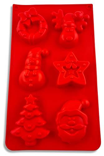 UMI. by Amazon - Weihnachten Silikonform, Backform, Advent, Muffin, Weihnachtsmann, Schneemann, Stern, Christkind, Engel - BPA-Frei
