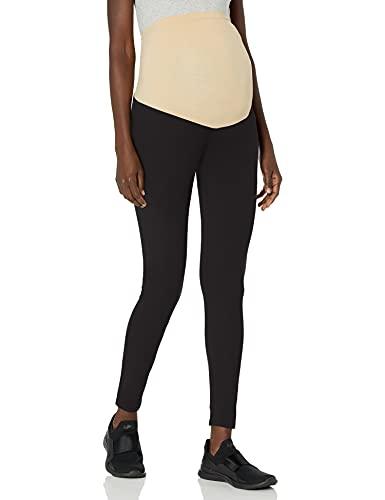 Motherhood Maternity Women's Maternity Essential Stretch Full Length Secret Fit Belly Leggings, Black, 3X
