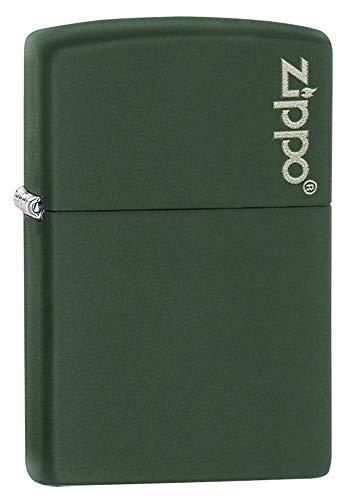 Zippo Feuerzeug–mit Logo Green Matte
