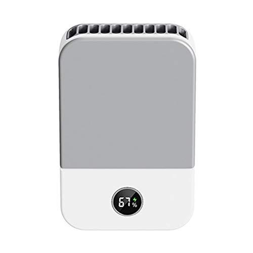 Gazaar Mini ventilador portátil con cordón USB recargable ventilador compatible para oficina, hogar, viajes al aire libre, carga USB, batería incorporada