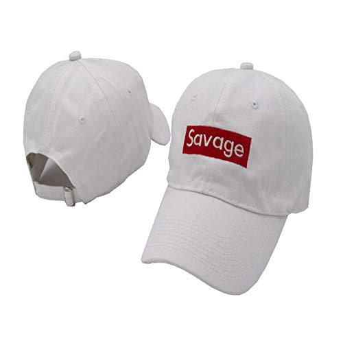 Baseball cap tij merk cap hoogwaardige katoenen soft top golf pet zonnescherm hoed wit volwassen code