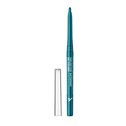 Manhattan Endless Stay Waterproof Gel Eyeliner – Grüner Gel Eyeliner mit Glitzer und herausdrehbarer Mine ohne Anspitzen – Farbe Emerald Sparkle 005 – 1 x 2,6g