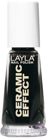 Layla Cosmetics 1243R23-031 Ceramic Effect Nagellak - pure black, 1-pack (1 x 0,01 l)