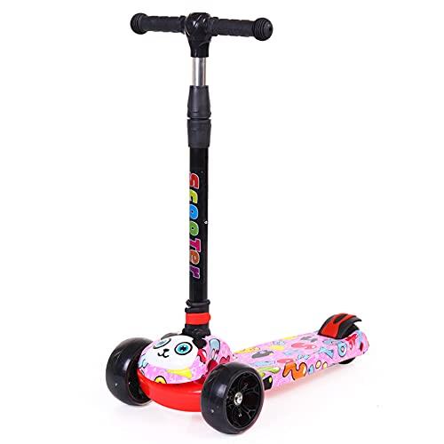 Scooter para niños con ruedas, material de aleación de aluminio, scooter ajustable con rueda luminosa de PU, adecuado para principiantes, niñas y niños, niños mayores de 1 año -B/A