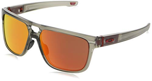 Oakley Crossrange Patch Asian Fit Sunglasses Matte Grey Ink/Prizm Ruby Lens
