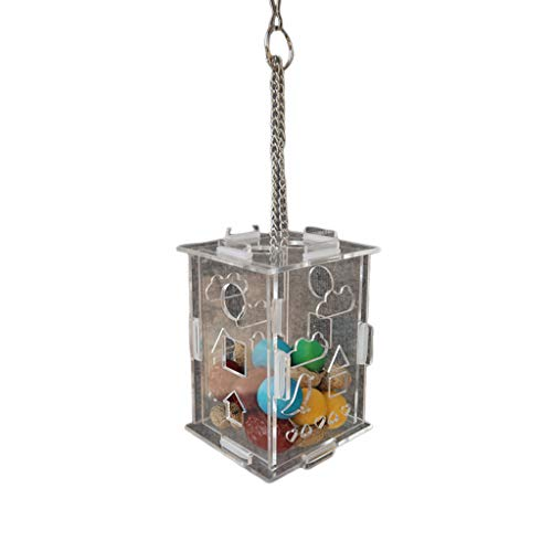 niumanery Parrot Foraging Device Puzzle Toy Grey Parrots Macaw Xuanfeng Peony Hang Feeder Large