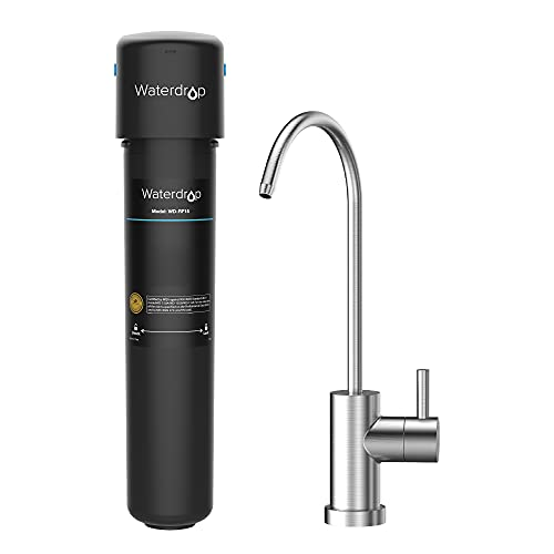 Waterdrop 15UB Under Sink Water Filter System, NSF/ANSI 42 Certified, with Dedicated Faucet, 16K...