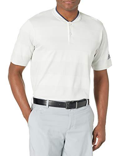 adidas Golf Men's Primeknit Golf Polo Shirt, White, Large