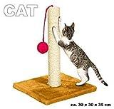 Tiragraffi in sisal per unghie gatti e pallina da gioco 30 x 30 x...