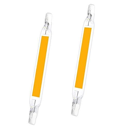 CNMJI 10W LED R7S Lampe 118mm Dimmbar, 360-Grad-Beleuchtung COB Filament Glühbirne Ersetzen Sie die Halogenlampe 100W, Flurbeleuchtung, 2er Pack(220V/120V),Natural White,110V~140V