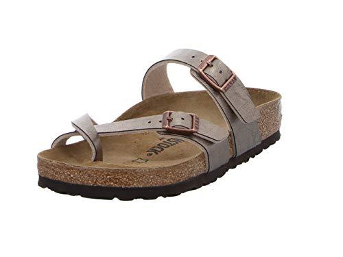 BIRKENSTOCK Damen Passe-pouces Mayari Birko-Flor Graceful Taupe Sandale, 38 EU Large