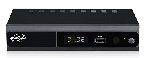 Digiquest twin tuner rec - Decoder digitale terrestre Full HD - Funzione di videoregistratore, Nero