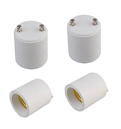 Z-COLOR 4-pack Fire Proof GU24 to E27/E26 LED Light Bulb Lamp Holder Adapter Socket Converter (4-pack)